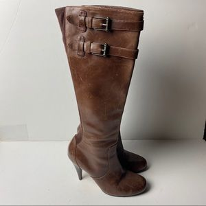 COLE HAAN NIKE AIR Tall Leather Heeled Boots